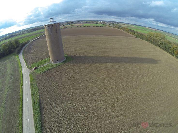 Der Wasserturm aus der Luft