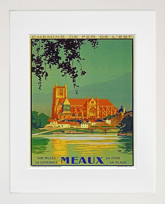 Travel Art Meaux France Print Poster French by Blivingstons, $8.99