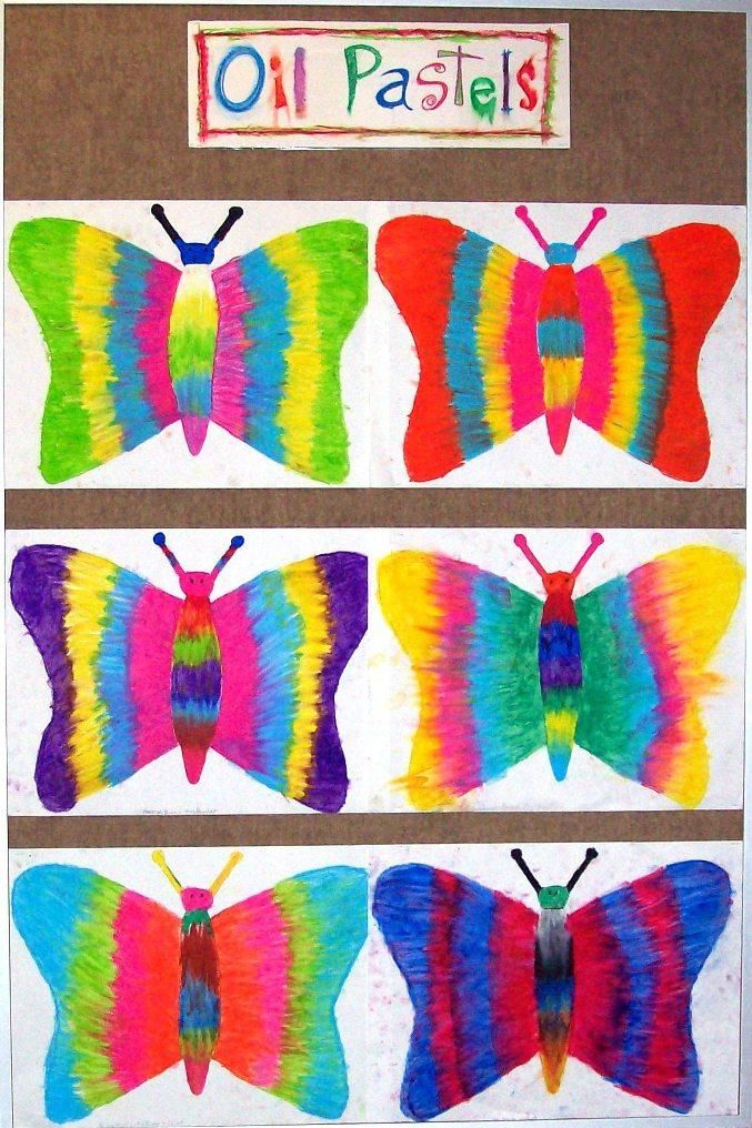 oil pastel butterfly -symmetry