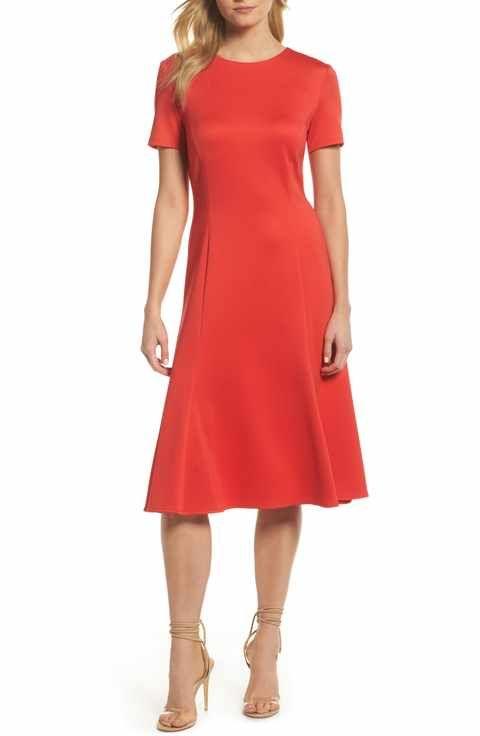9ecd02e6c37 Forest Lily Midi Bell Dress