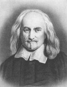 THOMAS HOBBES (1588-1679) foi um matemático, teórico político e filósofo inglês, autor de Leviatã e Do cidadão. Na obra Leviatã, explanou os seus pontos de vista sobre a natureza humana e sobre a necessidade de um governo e de uma sociedade fortes.