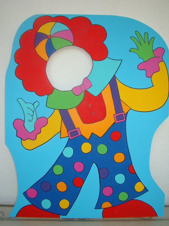 Circus themed events must have some unique photo props and decoration! This clown (see my listing for the Lion Photo prop in my shop too) shown