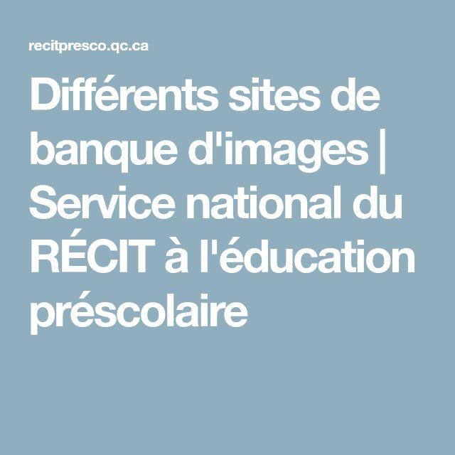Différents sites de banque d'images | Service national du RÉCIT à l'éducation préscolaire