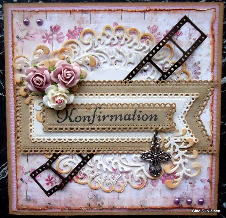 Gitte´s Kort.: Konfirmationskort.