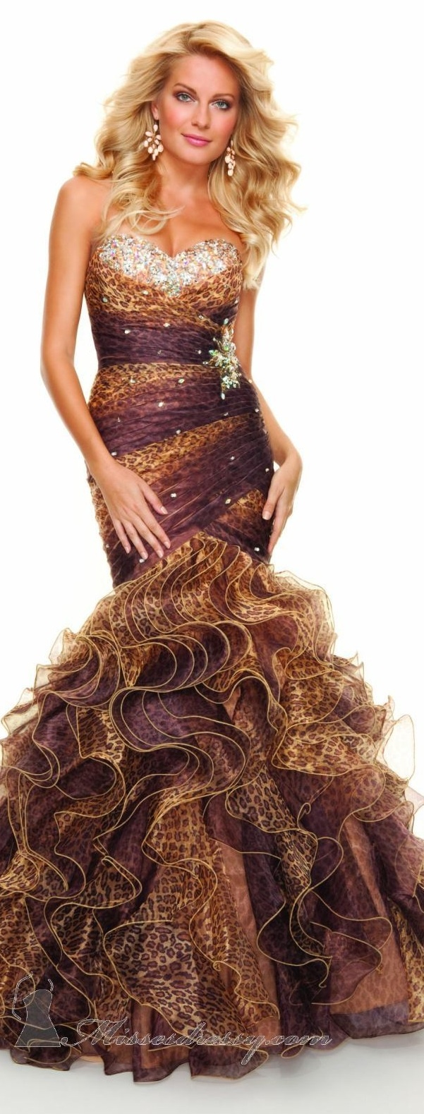 102 best leopard print wedding images on pinterest animal prints mori lee high couture 2013 over the top but awesome color combination find this pin and more on leopard print wedding ombrellifo Choice Image