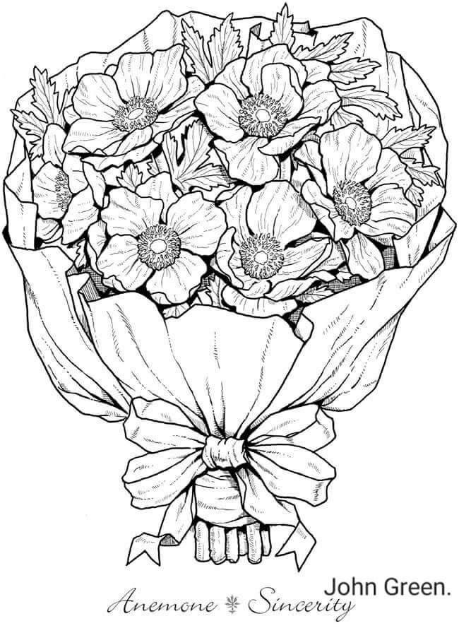 Pin by Dianna Dupont on Coloring Flower coloring pages