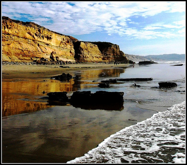 Torrey Pines Low Tide Landscape San Diego California What Makes San Diego Home Pinterest