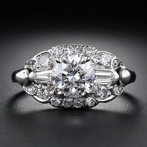 1.15 Carat Art Deco Diamond Engagement Ring Circa 1930-1940's... I think my heart just skipped a beat!