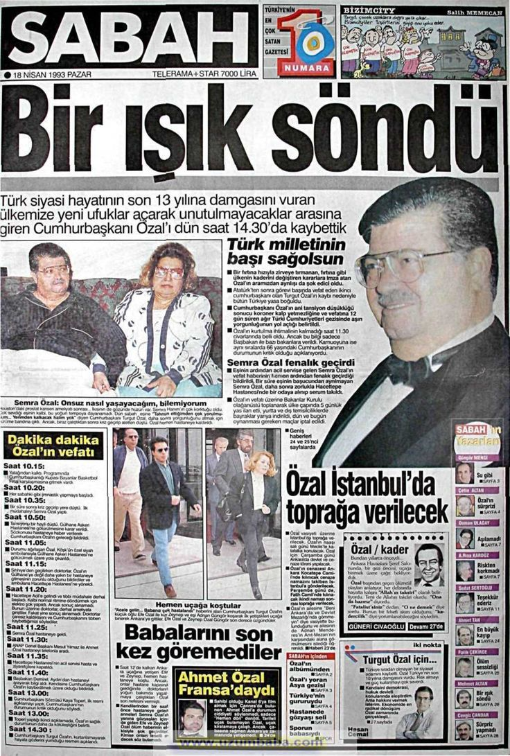 ihanetin  adamına,,ışığımız ,,yazmılar,,yuhhh,,Sabah gazetesi 18 nisan 1993