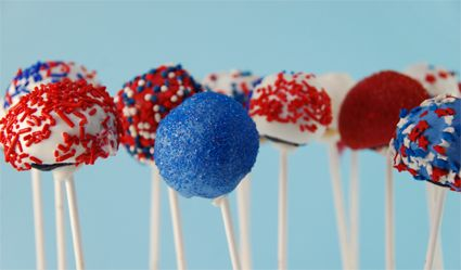 Cake Pops for July 4th