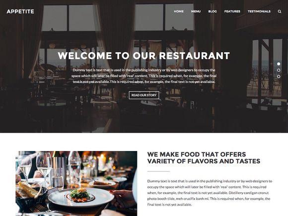 Appetite - WordPress Theme by Taras Dashkevych on @creativemarket