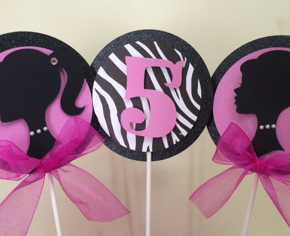 Barbie Centerpiece Barbie Party by karlaspartycreations on Etsy