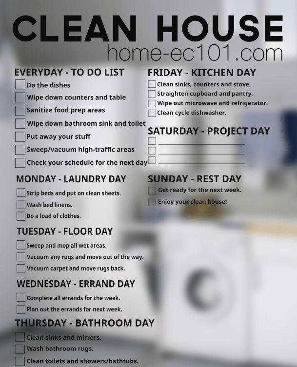 Heather says: Here's a weekly chore schedule to help keep a clean house.  Home Ec 101 gets a lot of requests for help figuring out how to get and keep a house clean. There's no big secret here, it's just a matter of dividing the chores into manageable chunks.… Keep reading...