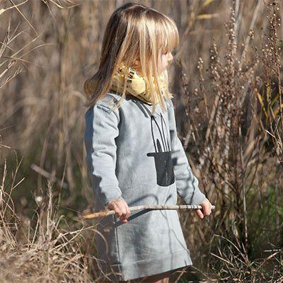 Sweatshirt Dress with Rabbit in a Hat Print by Picnik Barcelona - Junior Edition www.junioredition.com