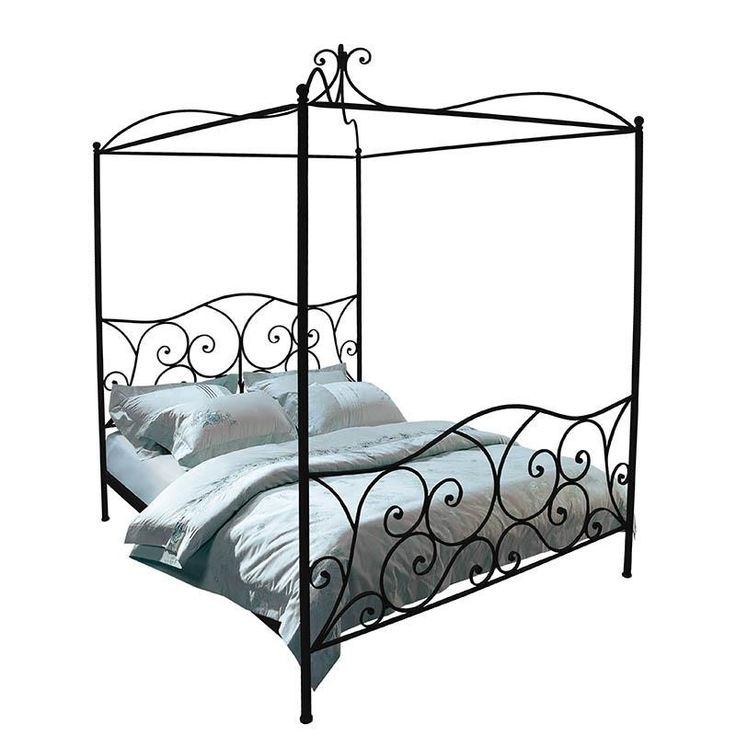 IRON DOUBLE BED IN ANTIQUE BROWN COLOR W/IRON BED TOP (W/MOSQUITO NET) 167Χ209Χ240/(160X200) - Beds - FURNITURE - inart
