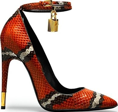 Tom Ford. Love the snake pattern, but lose the lock.