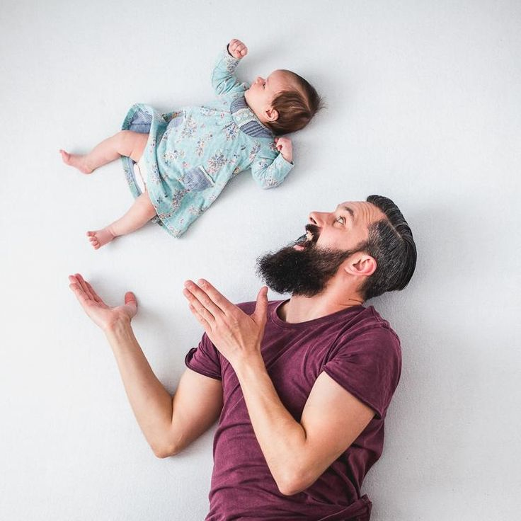fun pictures of dad playing with baby girl