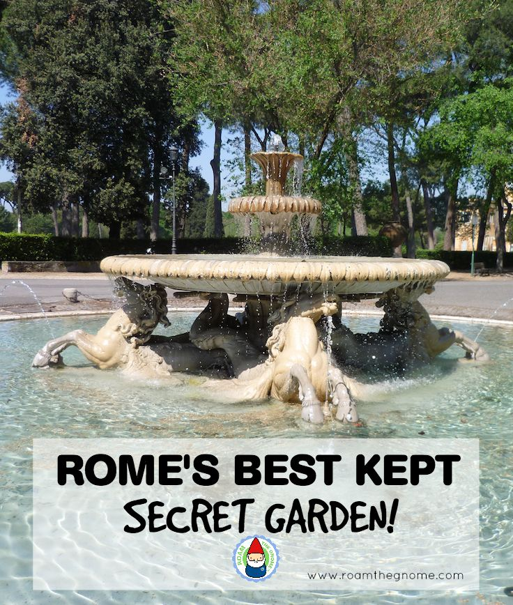Borghese Gardens - View the Fountain. Visit www.roamthegnome.com. Our Family Travel Directory for MORE SUPER DOOPER FUN ideas for family-friendly weekend adventures and travel with kids, all over the world. Search by city. Rated by kids and our travelling Gnome.