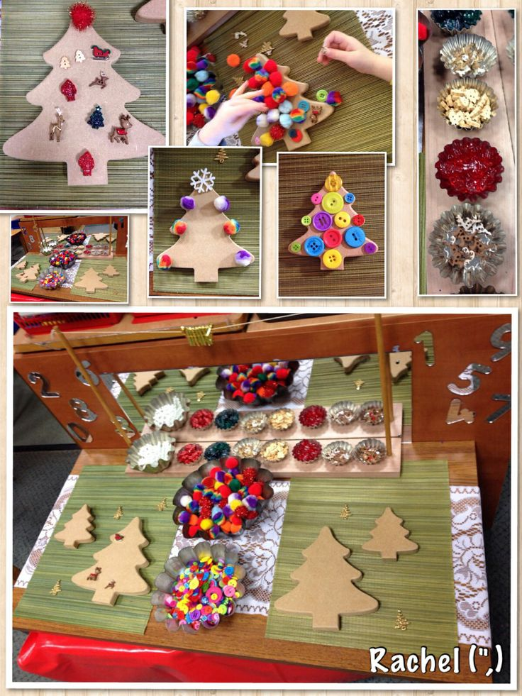 "Fine-motor tree decorating... from Rachel ("",)"