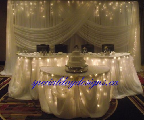 Head table & backdrop