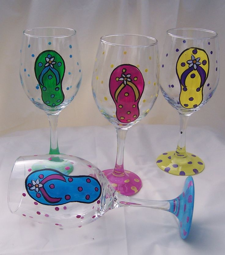 Hand Painted Decorative Glasses  Personalized Wine Glass Bick Lane
