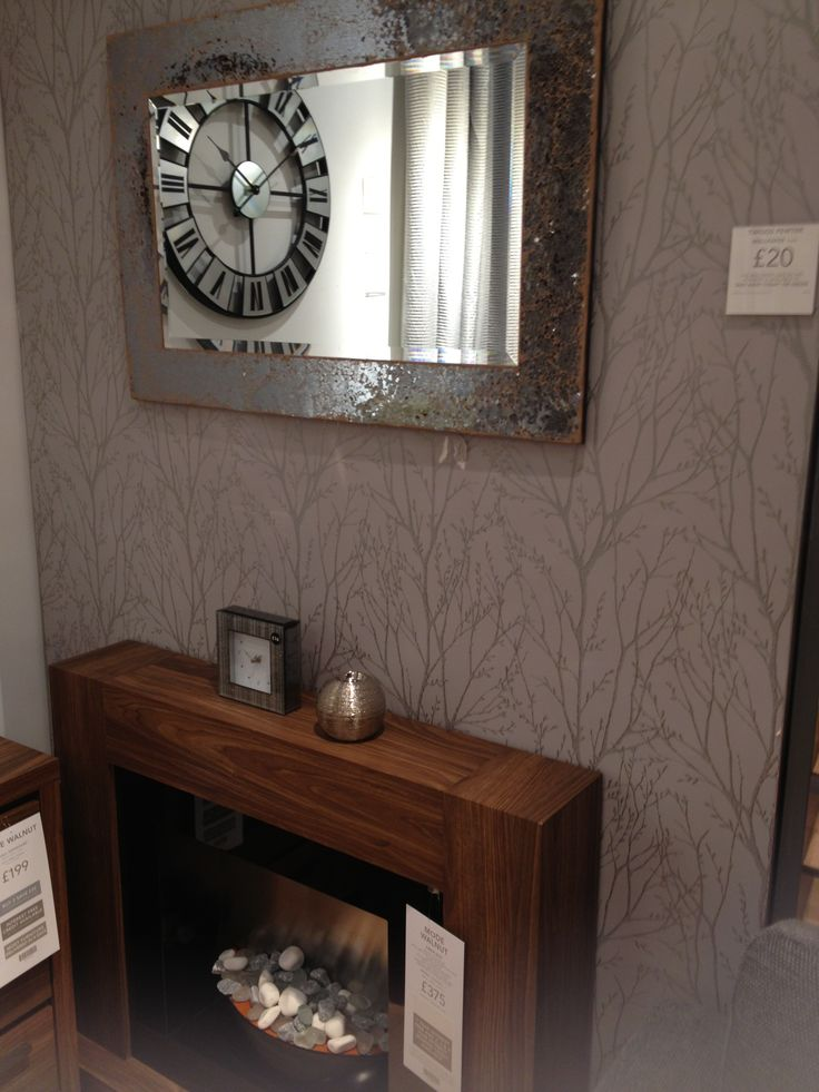 Next home wallpaper pewter twigs