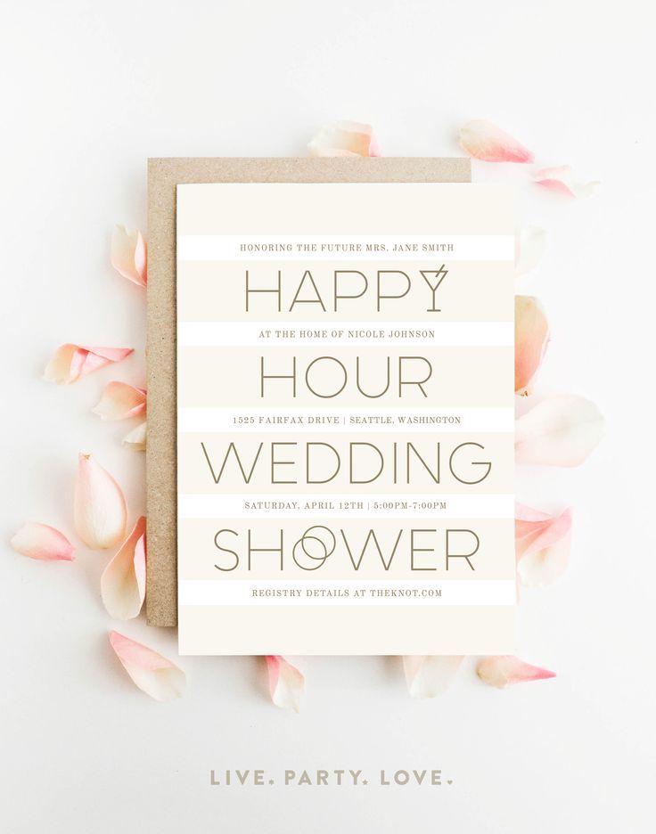 044df6822dcf Happy Hour Wedding Shower Invitation