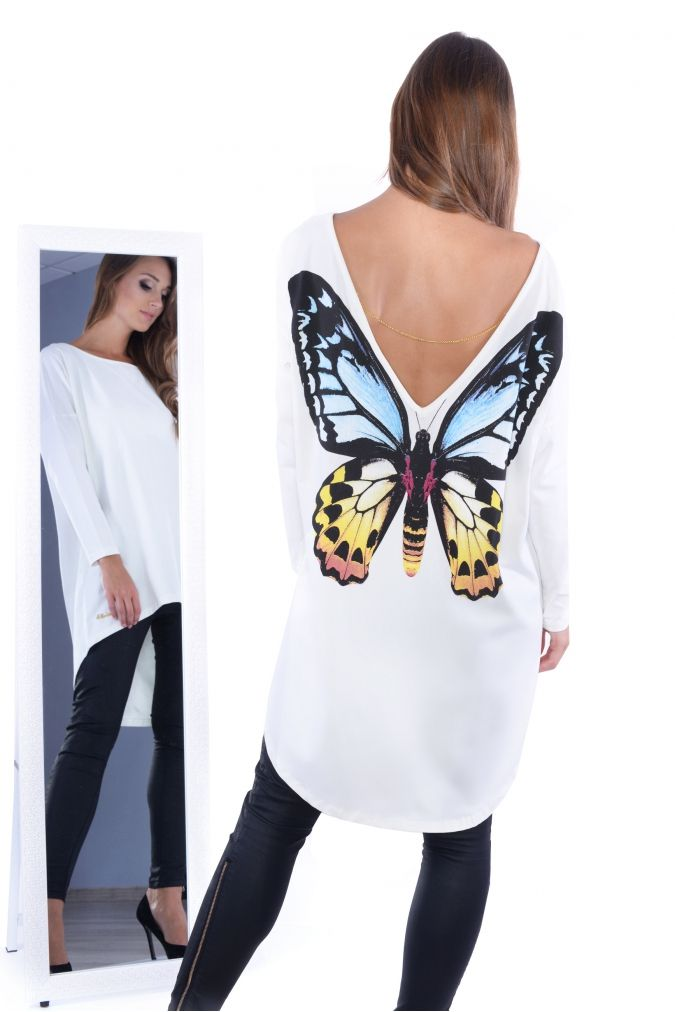 6de6eada00  Tunika  damska  PLUS  SIZE  xl  xxl asymetryczna  MOTYL kolory  tanio   modna  odzież  damska  online  sklep  internetowy