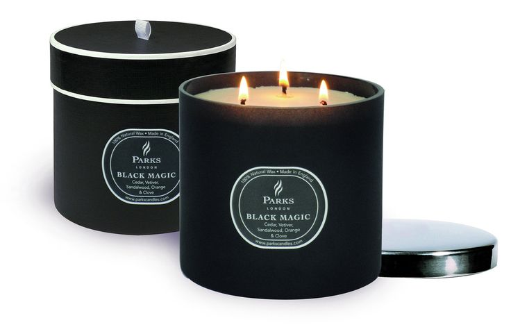 PARKS Black Magic 3 Wick Candle 'Cedar Vetiver Patchouli'