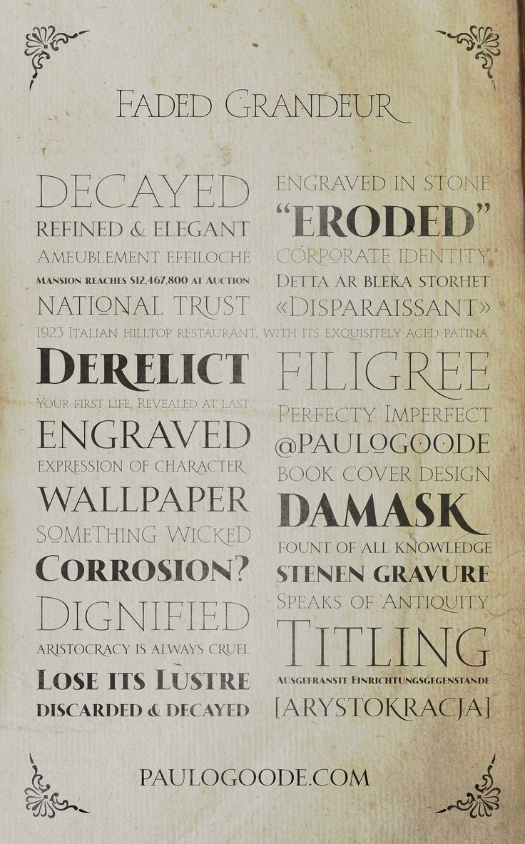 Faded Grandeur - 4 All Caps Fonts by Paulo Goode on @creativemarket