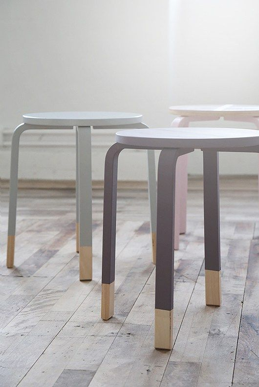Ikea hack - frosta stools                                                                                                                                                                                 More (Office Furniture Designs)