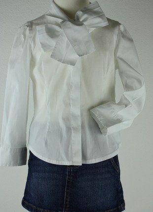 Kaufe meinen Artikel bei #Mamikreisel http://www.mamikreisel.de/kleidung-fur-madchen/langarm-blusen-und-hemden/31332313-il-gufo-festliche-bluse-weiss-schleife-gr-98-3j
