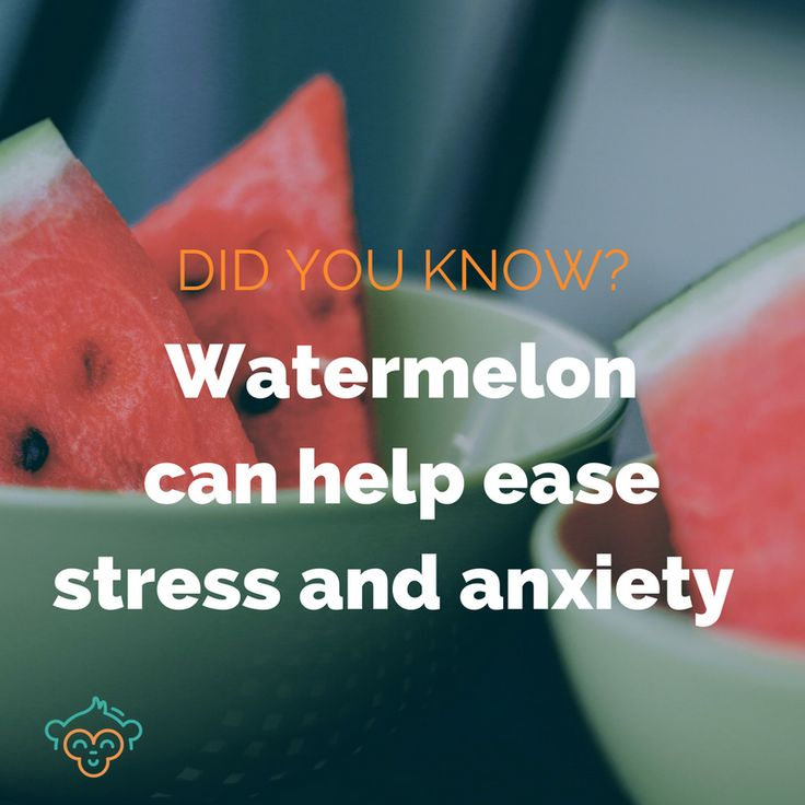 Watermelon has a lot of vitamin B6, which is used by the body to produce brain chemicals which may relieve stress, anxiety, and panic attacks. #stress #wellbeing #watermelon #anxiety #healthfacts #healthyeating #didyouknow #didyouknowfacts #LifeBuddi