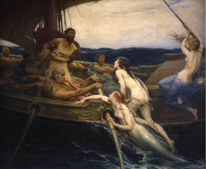 """Ulysses and the Sirens"" by Herbert James Draper, 1864-1920"