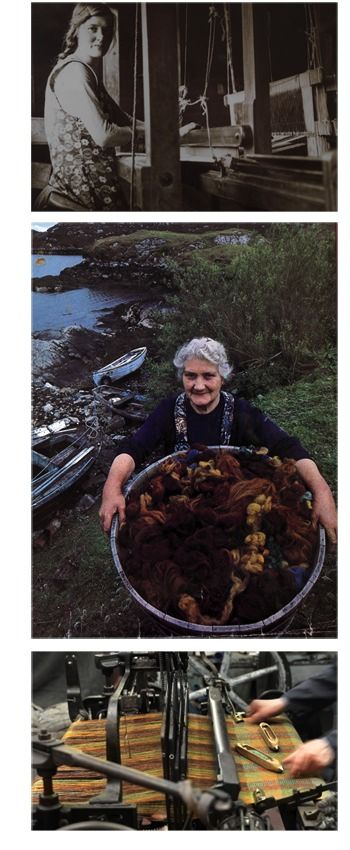 So wonderful to see the rich colours and the actual process of weaving… @Harris Novick Tweed - History Photos
