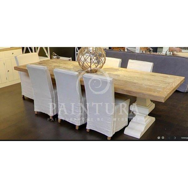 Witte eiken eettafels ONLINE kopen | e-shop Paintura Home #eik #tafel #kloostertafel #boerentafel #eetkamer #landelijk