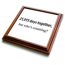 EvaDane - Happy Anniversary - 21, 915 days together, who's counting. Happy 60th Anniversary - Trivets - 8x8 Trivet with 6x6 ceramic tile: Wedding anniversary gift