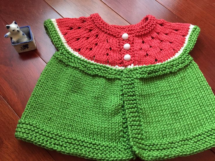 Mia's Watermelon Cardigan knitting project by Que-Huong L