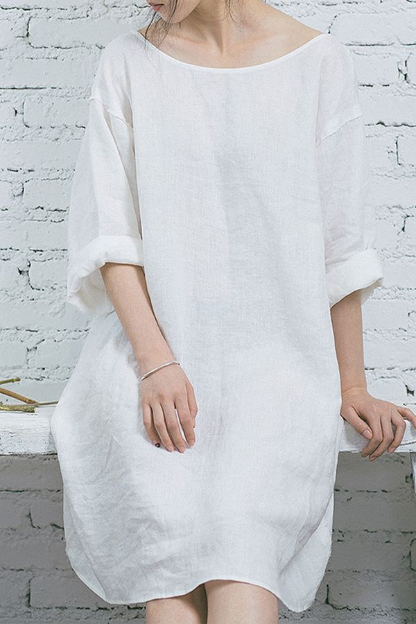 linen shift dress | minimalist style