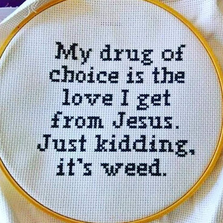 """Cross stitch.. The perfect craft for middle age mary janes  #weedislove #weedislife #crossstitch ▪▪▪ ☤ #MediMunchiesUK #medibles #cannacandy…"""""""