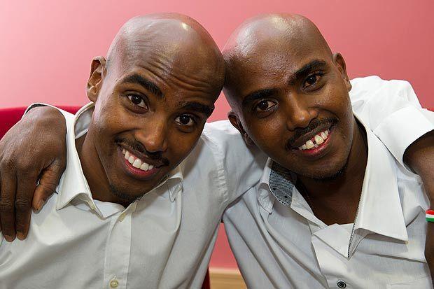 Mo Farah & his twin