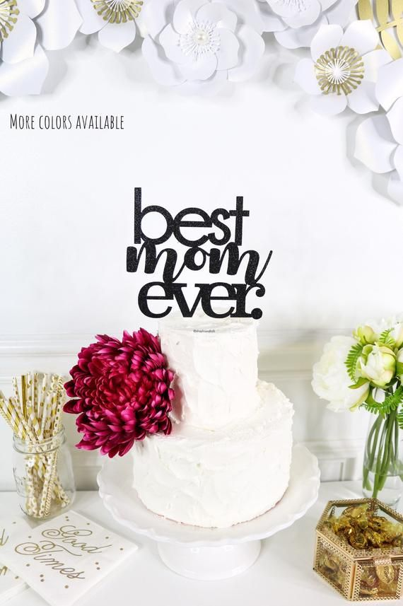 Mothers Day Cake Toppers Best Mam Glitter cake decoration