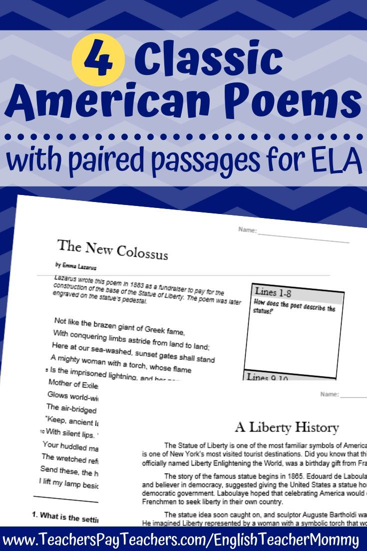 Poetry With Informational Text Paired Passages Printable Digital Paired Passages Poetry Middle School Informational Reading Passages [ 1102 x 735 Pixel ]