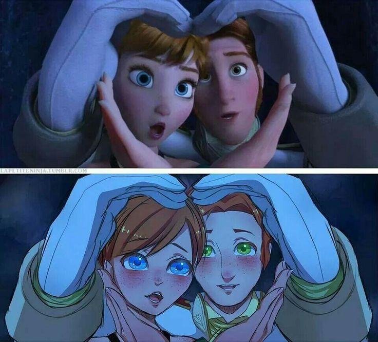 Frozen anime version