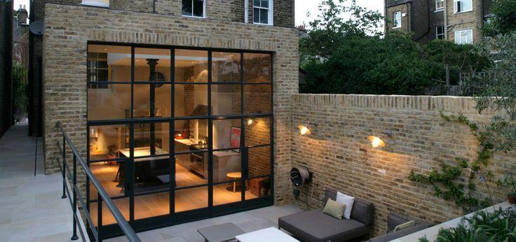 Nice extension, beautiful floor to ceiling windows