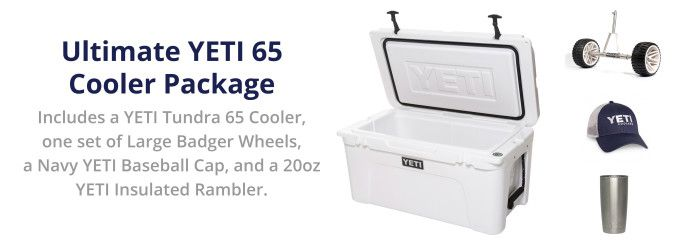 Enter to win the Ultimate YETI 65 Cooler Package!