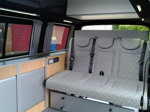Wider 1280mm Reimo Variotech 333 crash tested seat offers extra comfort for 3 people #vwcamper ...