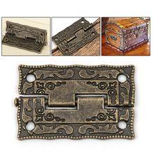 10 stks/set Kastdeur Butt Scharnieren Mini Lade Brons Decoratieve Mini Scharnieren Voor Kast Opslag Houten Doos Vintage(China)