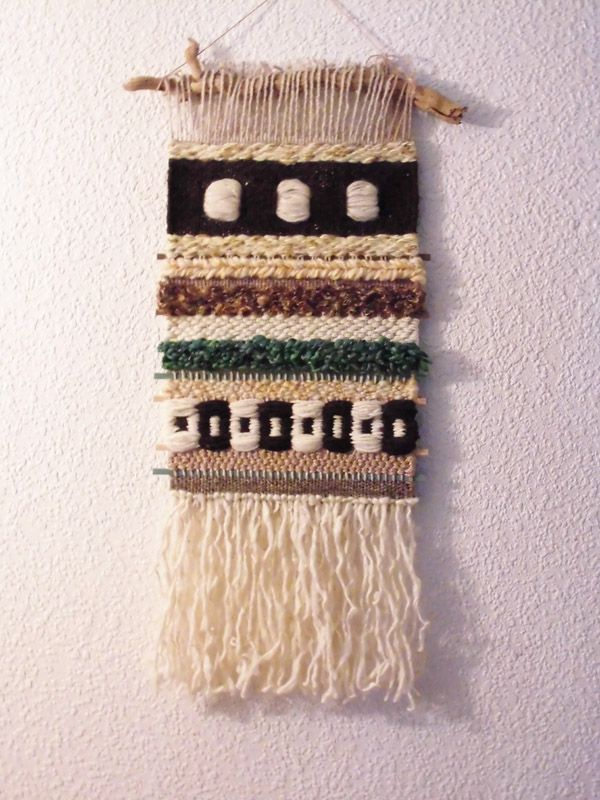 tapiz de pequeño formato: 30 x 70 cm realizado por Mónica de Rivas - 2014