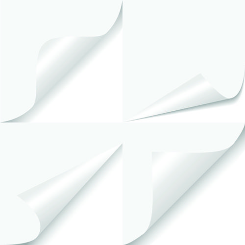 White Curled Paper Corner free vector